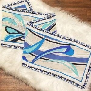 Emilio Pucci Geometric Signature Oblong SilkScarf